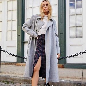 Free People Sierra Wool Coat Gray Small